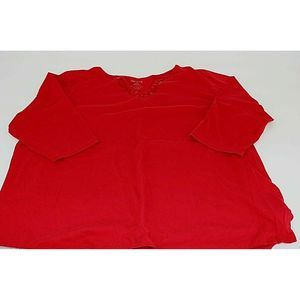 White Stag Womens Red Blouse Sz 2X/2XG